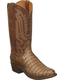 Lucchese Men's Walter Hornback Caiman Western Boots - Round Toe, , hi-res