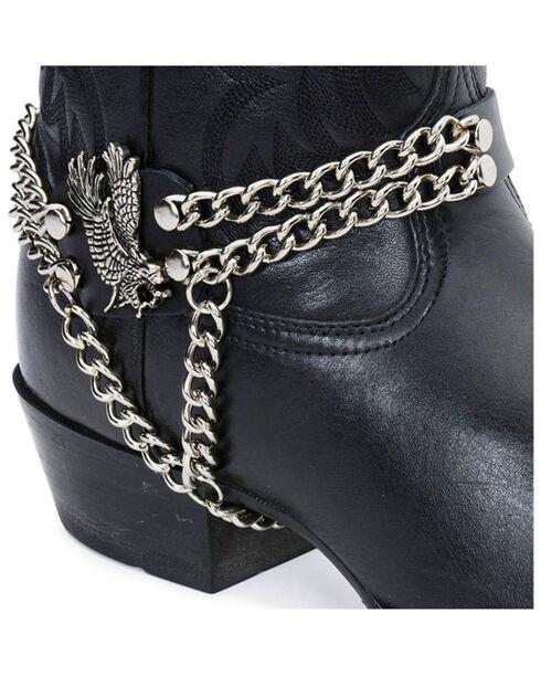 Eagle & Chain Boot Strap, Black, hi-res