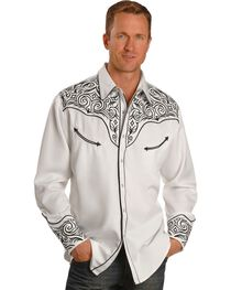 Scully Fancy Full Stitched Retro Western Shirt, , hi-res