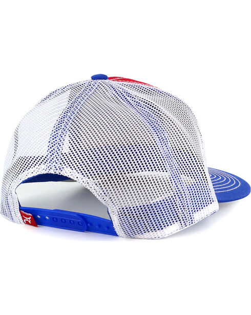 RopeSmart Men's Texas Patch Snap-Back Trucker Hat, Red/white/blue, hi-res