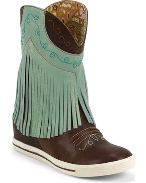 Justin Women's Fringe Gypsy Dust Boots, Chocolate, hi-res