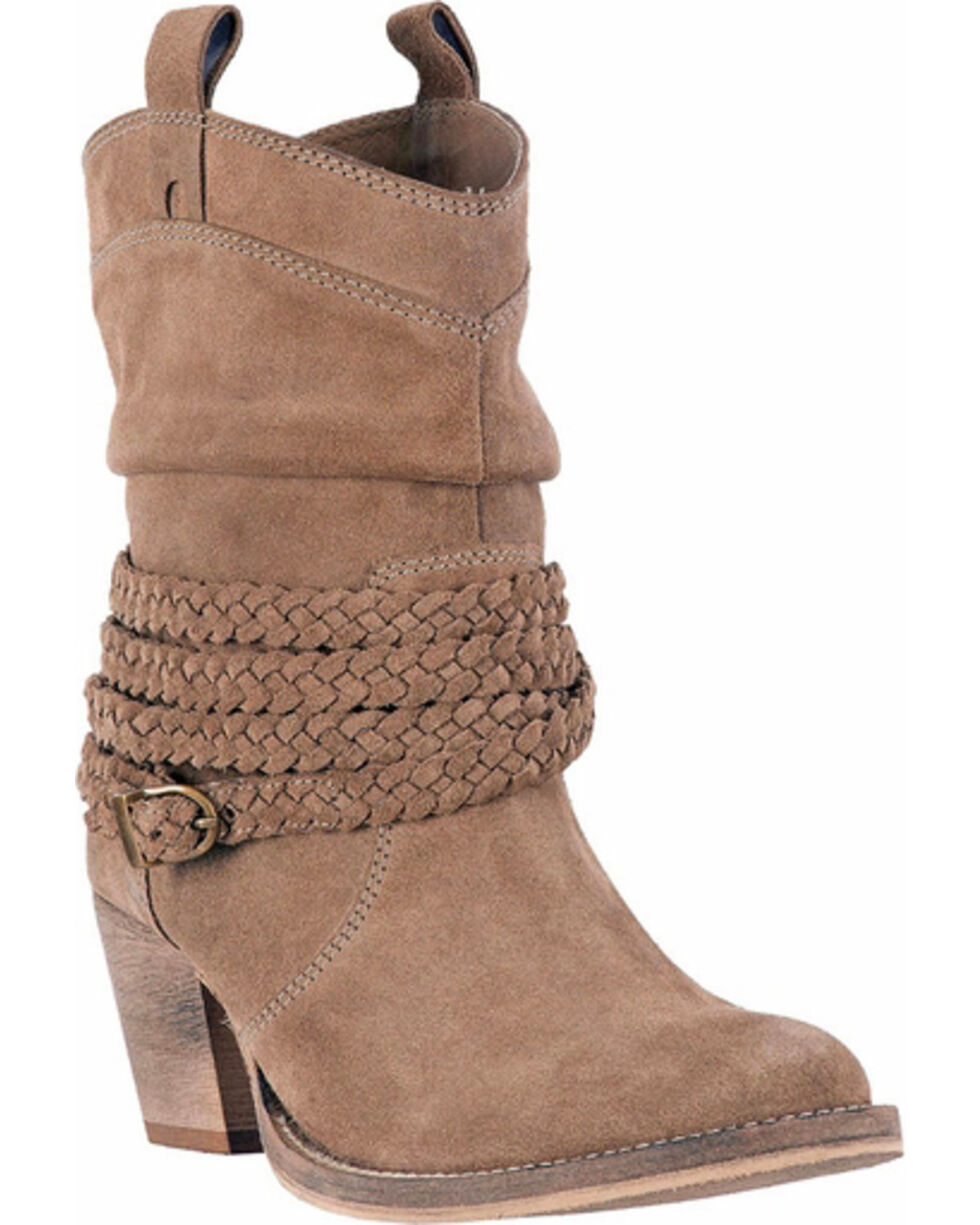 Dingo Women's Slate Twisted Sister Slouch Boots - Round Toe , , hi-res