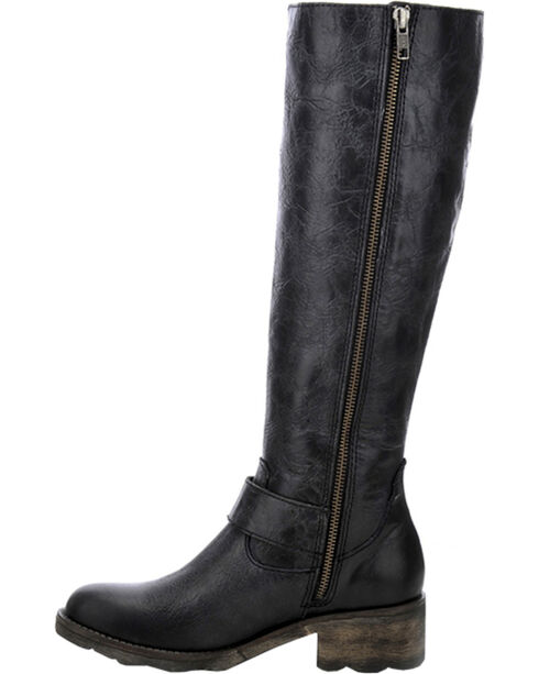 Circle G Women's Tall Engineer Boots, Black, hi-res