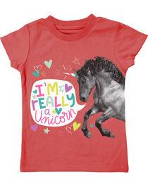 Farm Girl Toddler Girls' I'm Really A Unicorn Tee, , hi-res