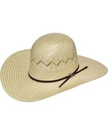 Twister Open Crown Poly Rope Straw Cowboy Hat, , hi-res