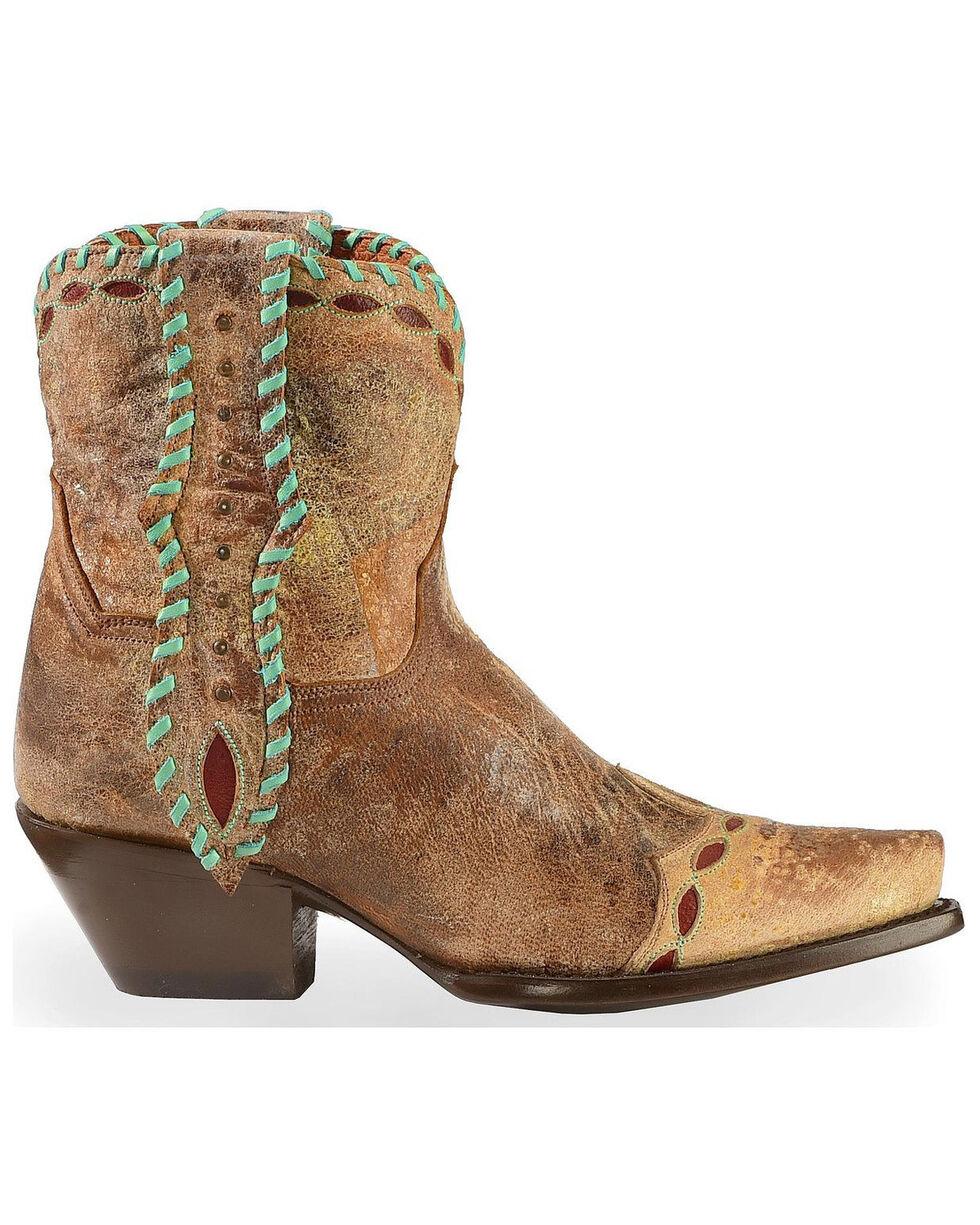 Dan Post Women's Livie Western Booties, Tan, hi-res