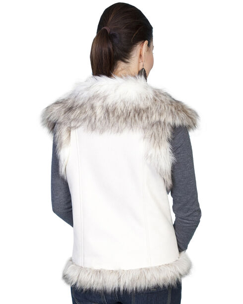 Scully Women's Suede Faux Fur Vest, Off White, hi-res