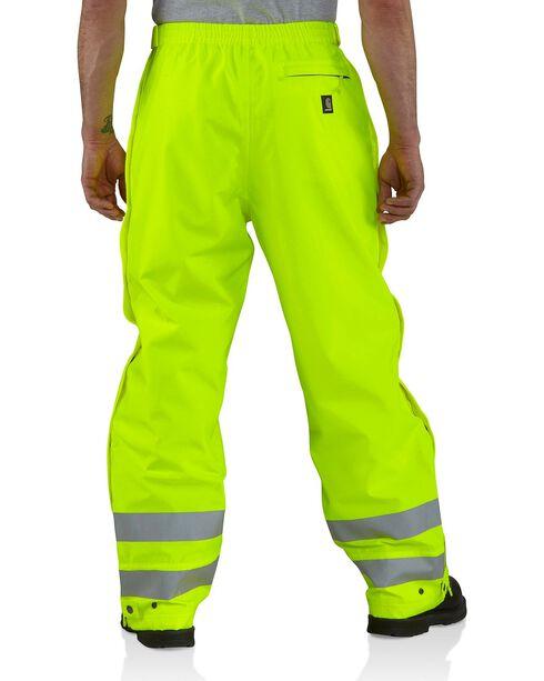 Carhartt Men's High Visibility Class 3 Work Pants, Lime, hi-res