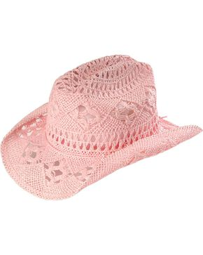 April Cowgirl Hat, Pink, hi-res