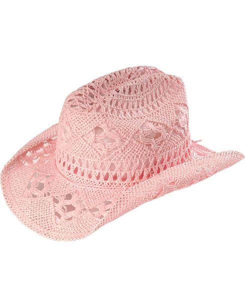 April Cowgirl Hat, Pink, hi-res