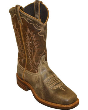 "Abilene Men's 11"" Western Work Boots, Cafe, hi-res"