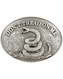 Nocona Men's Silver Don't Tread On Me Belt Buckle , , hi-res