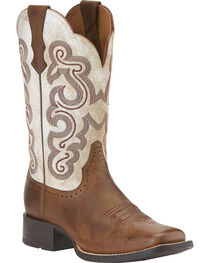 Ariat Women's Quickdraw Western Boots, , hi-res