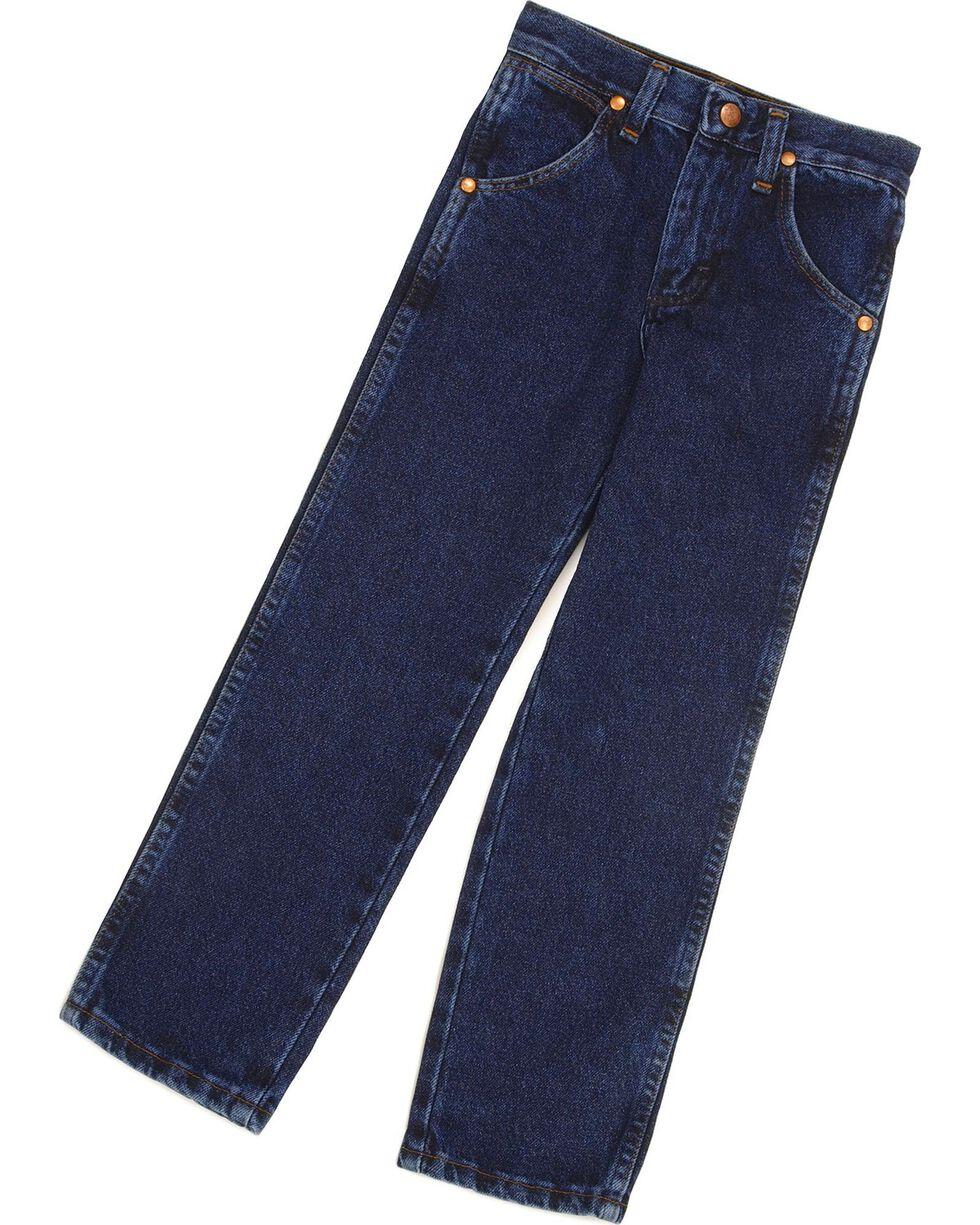 Wrangler Boys' ProRodeo Jeans Size 1-7, Dark Indigo, hi-res