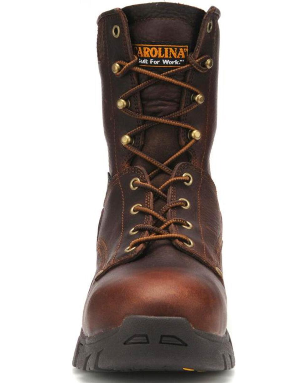 "Carolina Men's 8"" Waterproof Composite Toe Work Boots, Dark Brown, hi-res"