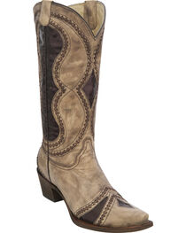 Corral Women's Diamond Inlay Cowgirl Boots - Snip Toe, , hi-res
