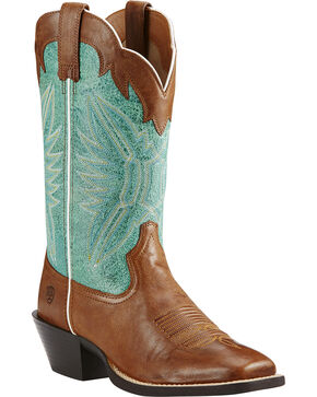 Ariat Women's Round Up Outfitter Western Boots, Wood, hi-res