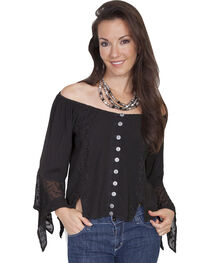 Scully Women's Off-the-Shoulder Lace Blouse, , hi-res