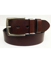 G Bar D Men's Brown 40 MM Non-Stitch Leather Belt, , hi-res