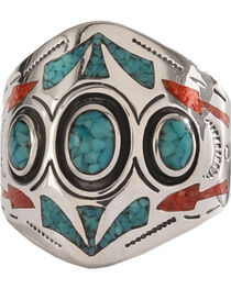 Silver Legends 3 Circle Southwestern Ring , , hi-res