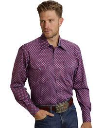 Roper Men's Amarillo Collection Red & Blue Print Western Shirt, , hi-res