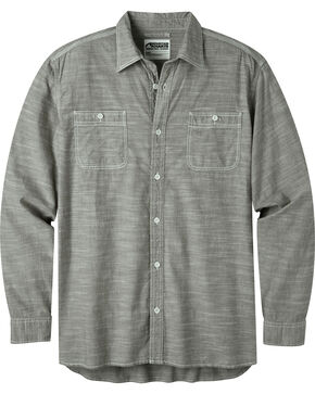 Mountain Khakis Men's Olive Chambray Long Sleeve Shirt, Olive, hi-res