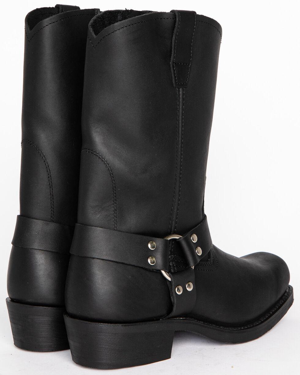 Cody James® Men's Zipper Harness Motorcycle Boots, Black, hi-res