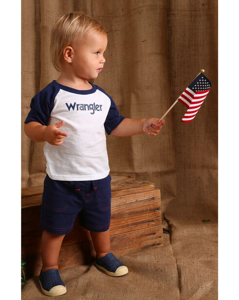 Wrangler Infant/Toddler Boys' Navy Drawstring Knit Shorts, Navy, hi-res