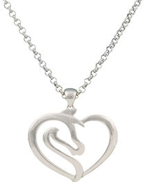 Montana Silversmiths Equestrian Heart Necklace, , hi-res