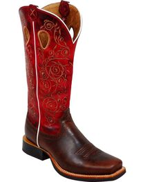 Twisted X Women's Floral Ruff Stock Western Boots, , hi-res