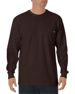 Dickies Men's Heavy Weight Crew Long Sleeve Tee, Chocolate, hi-res