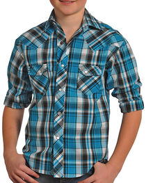 Panhandle Boys' Plaid Long Sleeve Shirt, , hi-res