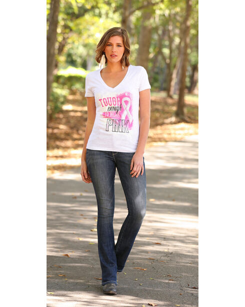 Wrangler Women's Tough Enough To Wear Pink Short Sleeve Graphic tee, White, hi-res
