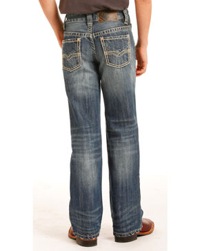 Rock & Roll Cowboy Boys' (7-20) Stitched Jeans - Boot Cut, Indigo, hi-res