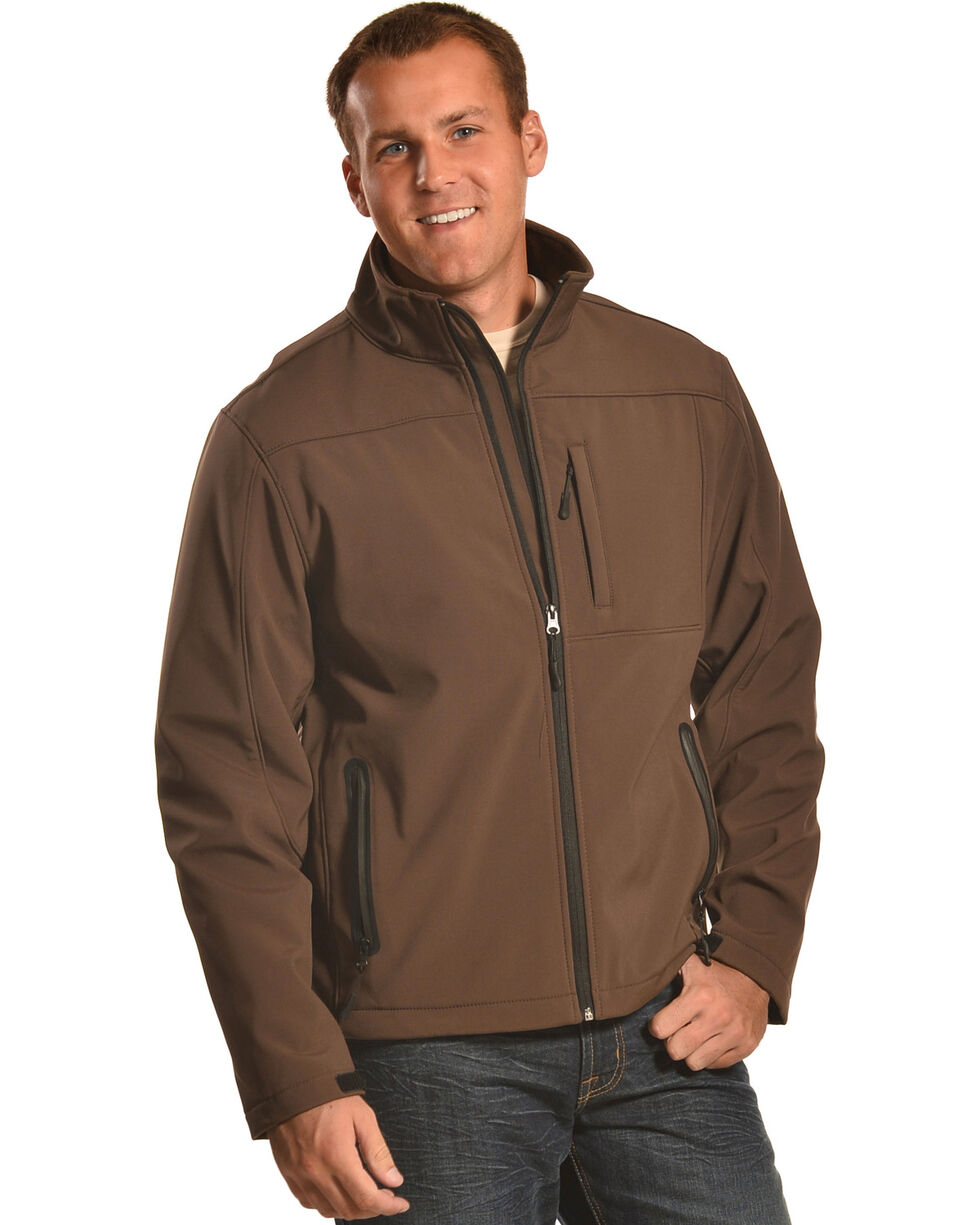 Forge Workwear Men's Chocolate Lined Bonded Jacket , Chocolate, hi-res