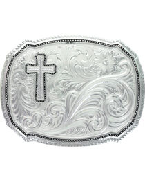 Montana Silversmiths Right Cut of the Roper Buckle, , hi-res