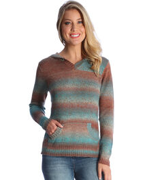 Wrangler Women's Spice Ombre Hooded Sweater , , hi-res