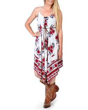 Shyanne® Women's Floral Asymmetrical Dress, Multi, hi-res