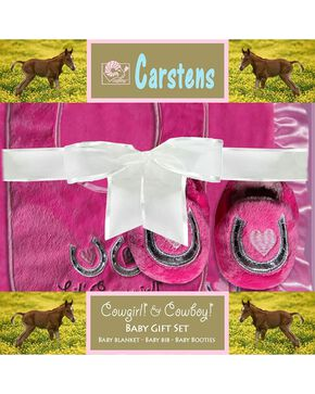 Lil' Cowgirl Boxed Baby Set, Pink, hi-res