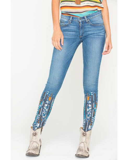 MM Vintage Anais Blue Skinny Jeans , Indigo, hi-res