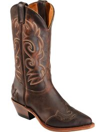 "Boulet Women's 12"" Wing Tip Cowboy Boots, , hi-res"
