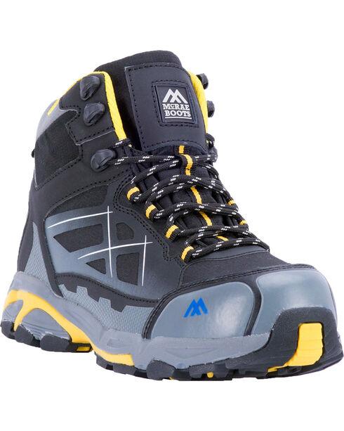 McRae Men's Non-Metallic Waterproof Work Shoe - Composite Toe, Black, hi-res