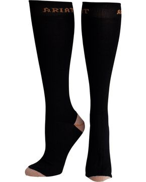 Ariat Men's Tall Black Boot Socks, Black, hi-res