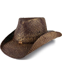 Cody James® Rugged Pinch Front Straw Hat, , hi-res