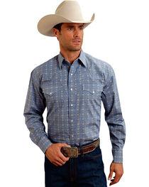 Stetson Men's Medallion Print Long Sleeve Western Shirt, , hi-res