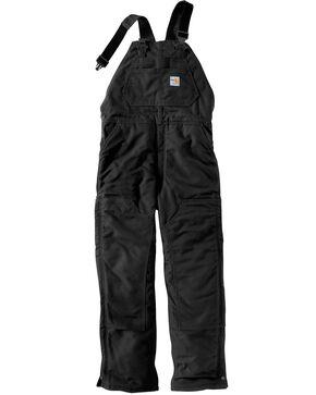 Carhartt Men's Flame Resistant Duck Bib Overalls, Black, hi-res