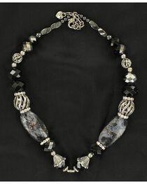 Hematite Beaded Necklace, , hi-res