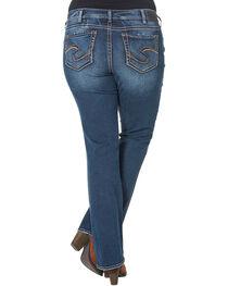 Silver Women's Suki Mid-Rise Bootcut Jeans - Plus Size, , hi-res