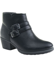 Eastland Women's Black Stella Strap and Buckle Booties, , hi-res