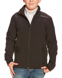 Ariat Youth Vernon Long Sleeve Bonded Jacket, Black, hi-res